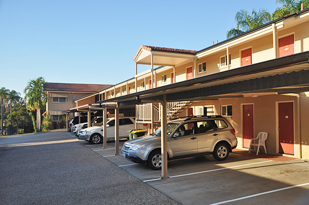 Rockhampton motel accommodation with undercover parking