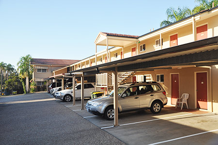 Convenient onsite undercover parking at the Rockhampton motel